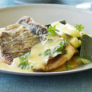 Pan-Fried Fish with Lemon Butter Sauce.