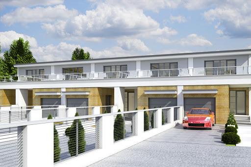 projekt Long z garażem 1-st. szeregówka A-SZ