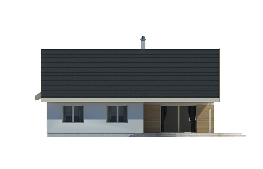 Marcel z garażem - Elewacja lewa