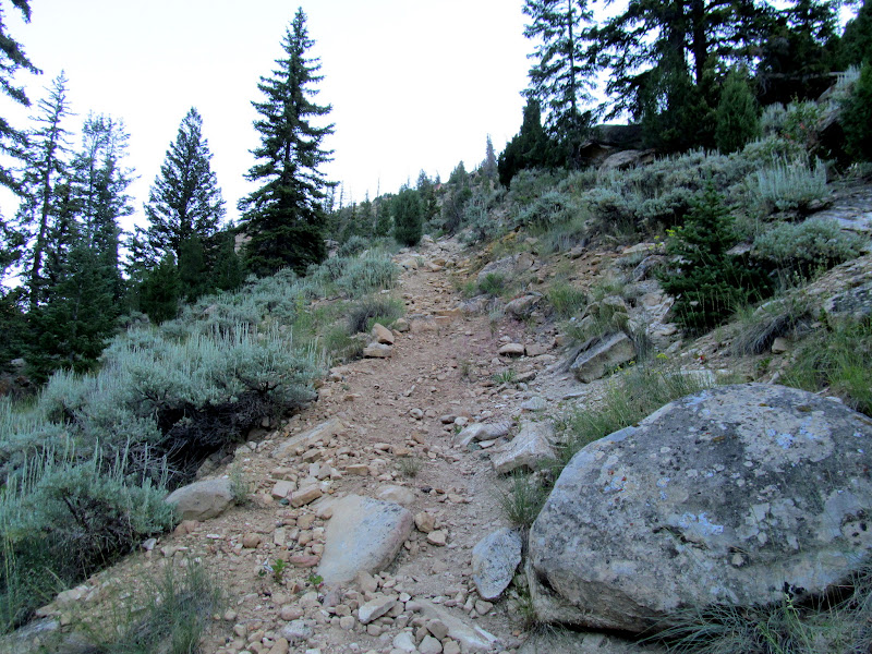 Photo: Steep, rocky trail