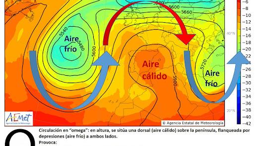 Una imagen meteorológica similar a la que puede producirse esta semana