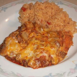 Beef and Potato Enchiladas.