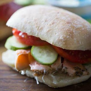 Asian Salmon Sandwich.