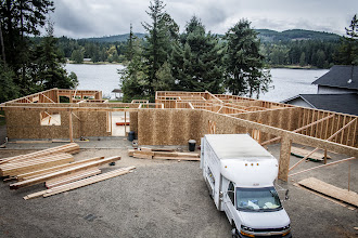"""Photo: 24"""" floor trusses were supposed to be delivered between 10 and 12, they came at 6.  We were long gone by then."""