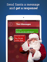 screenshot of Message from Santa! video & call (simulated)
