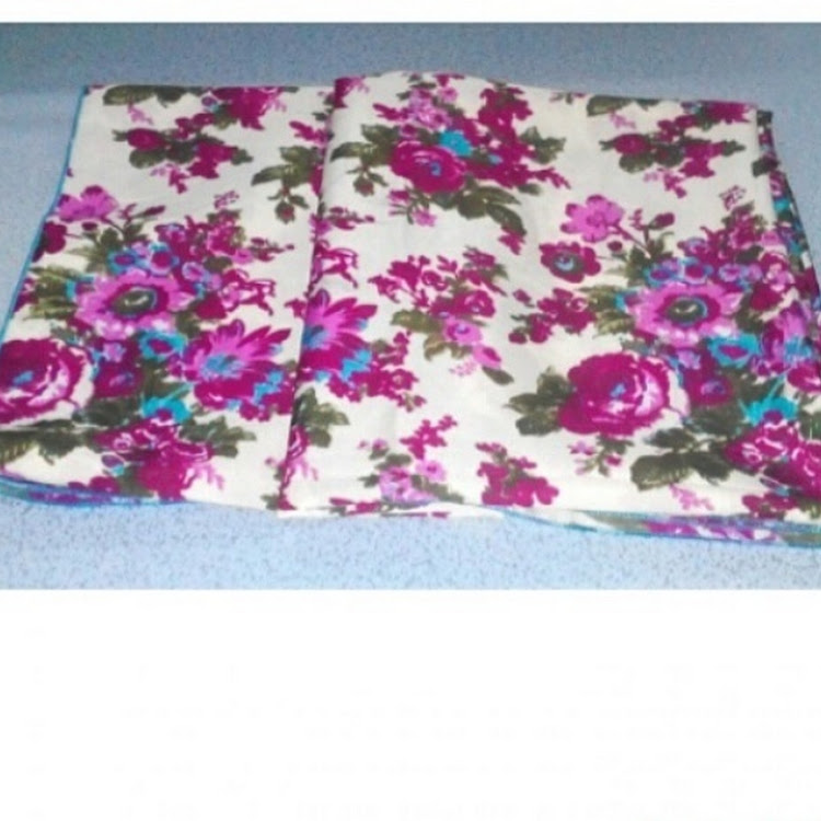 1702 roses square scarf red/pink by PF LIMITED