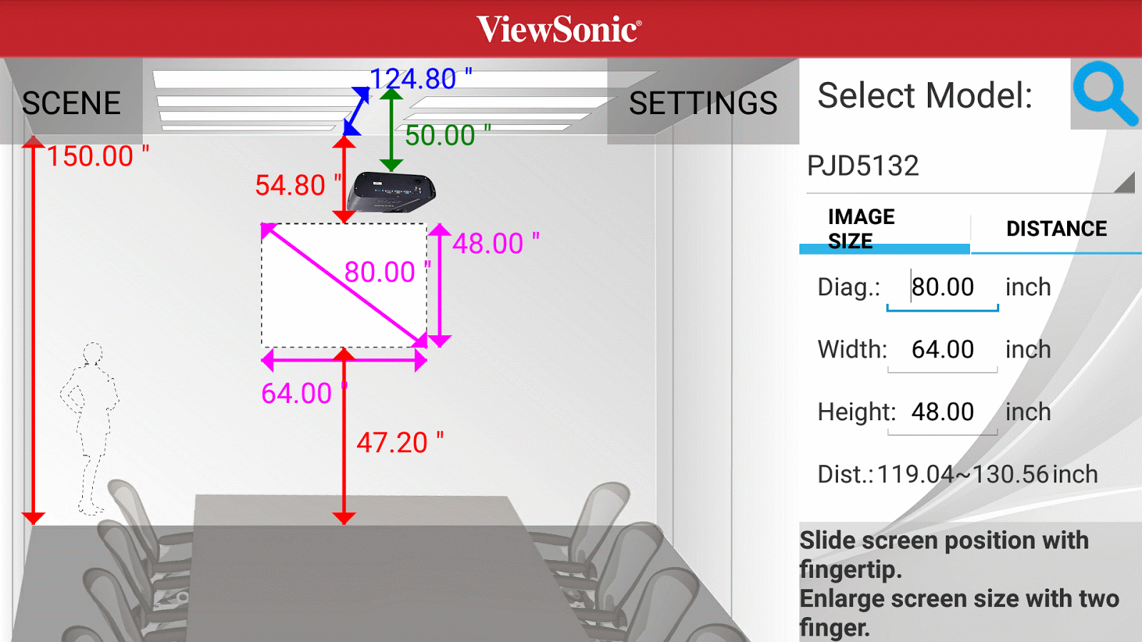 Viewsonic Projector Distance Android Apps On Google Play