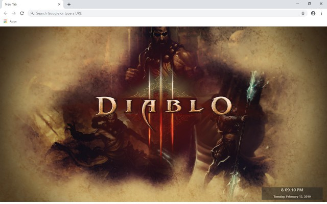 DIABLO 3 New Tab & Wallpapers Collection