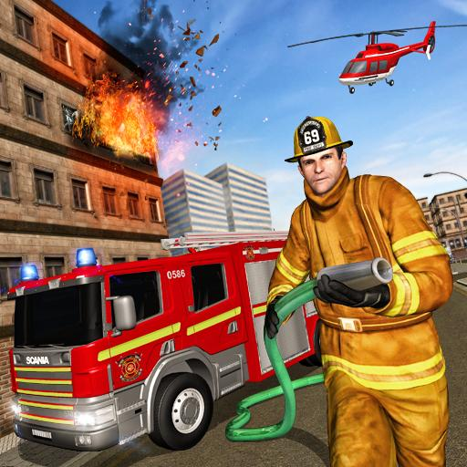 Real Firefighter Rescue Driver: Free Rescue Games (game)