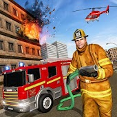 Real Firefighter Rescue Driver: Free Rescue Games