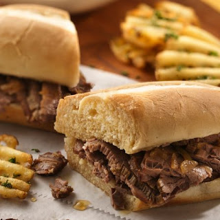 Slow-Cooker Easy French Dip Sandwiches.