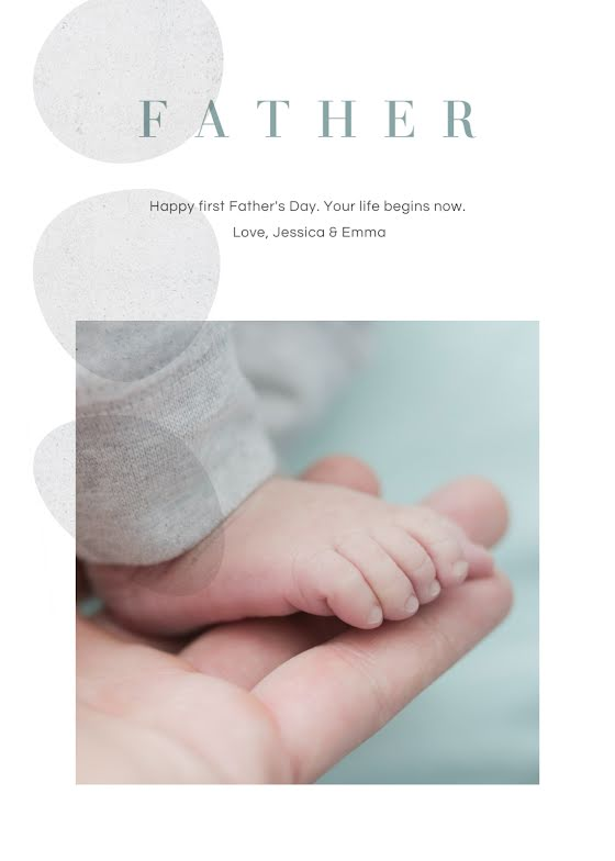 First Father's Day - Father's Day Card Template