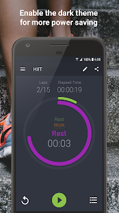Exercise Timer Screenshot