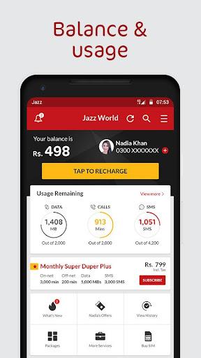 Jazz World - Manage Your Jazz Account 1.2.1 screenshots n 2