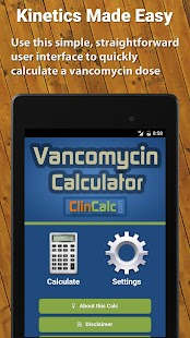 Vancomycin Calculator ClinCalc- screenshot thumbnail