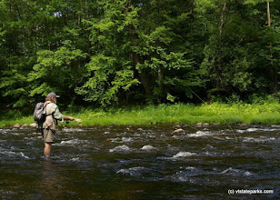 Photo: Fly fishing on the West River, Jamaica State Park