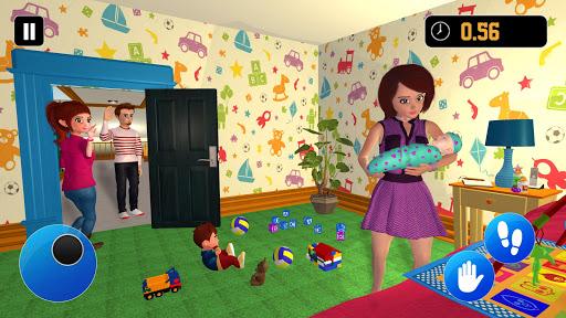 Happy Family Siblings Baby Care Nanny Mania Game 1.0.3 screenshots 2