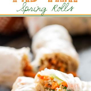 Pad Thai Spring Rolls.
