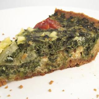 St-Morgon Spinach Quiche.
