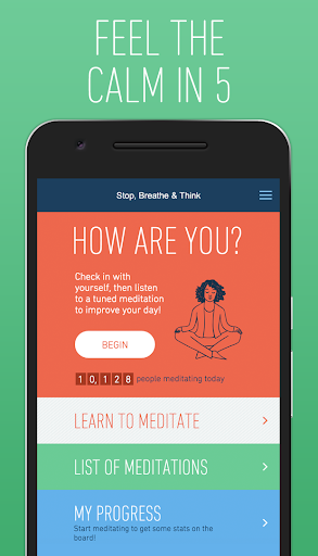 Stop Breathe & Think: Meditate Screenshot