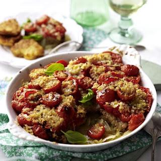 Pork Milanese with Baked Bruschetta.