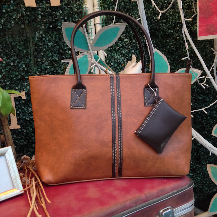 Classic Tote in Coffee Brown by Le Tea Boutique