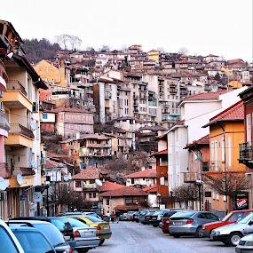 Veliko Tarnovo-Bulgaria by Stoyan Katinov - City,  Street & Park  Street Scenes ( veliko, tzaravetz, monument, road, tarnovo, wall, bulgaria )