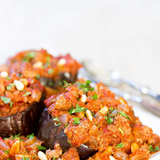 Baked Eggplant with Meat Sauce.