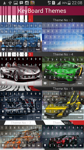 Sport Car Keyboard