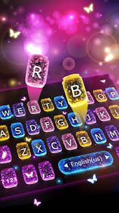 Sparkle Butterfly Keyboard