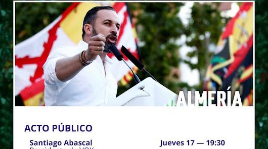 Cartel anunciador del mitin de Abascal.