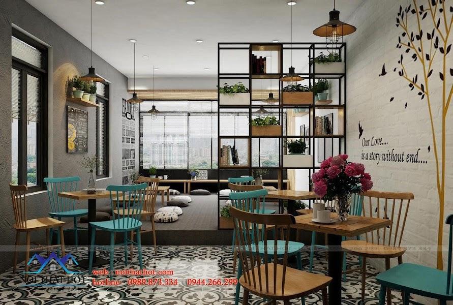 thiết kế quán cafe phong cách trẻ
