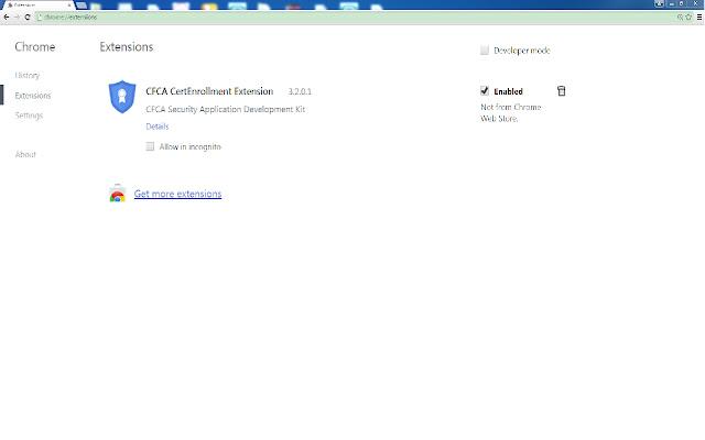 CFCA CertEnrollment Extension