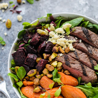 Grilled Steak Salad with Roasted Vegetables