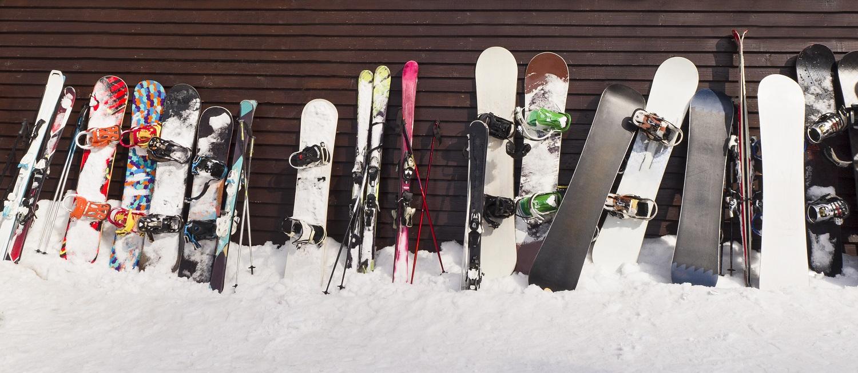 Variedad de tablas de snowboard