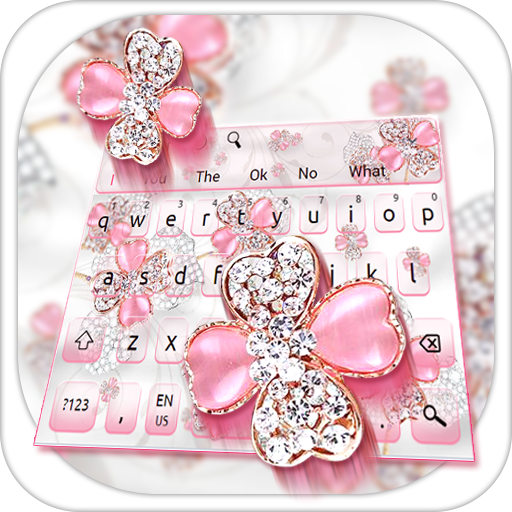 Glittering Diamond Flower Keyboard