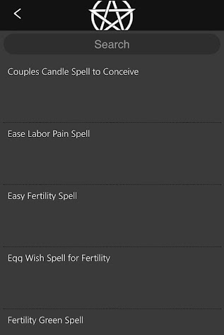 Wicca Spells and Tools Pro Screenshot