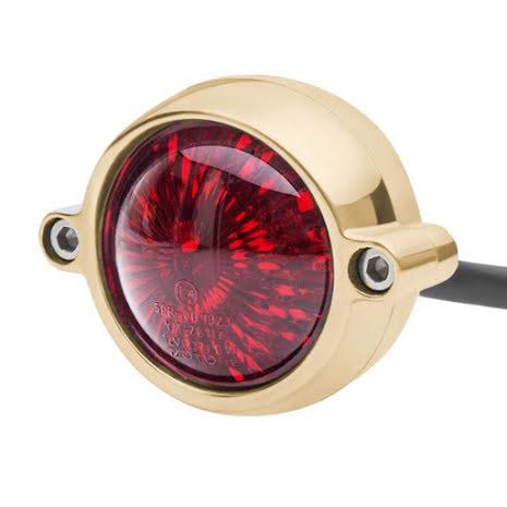 Motone Eldorado Tail Light - LED - Solid Brass