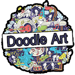 Doodle Art Wallpaper and Tutorial Offline Icon