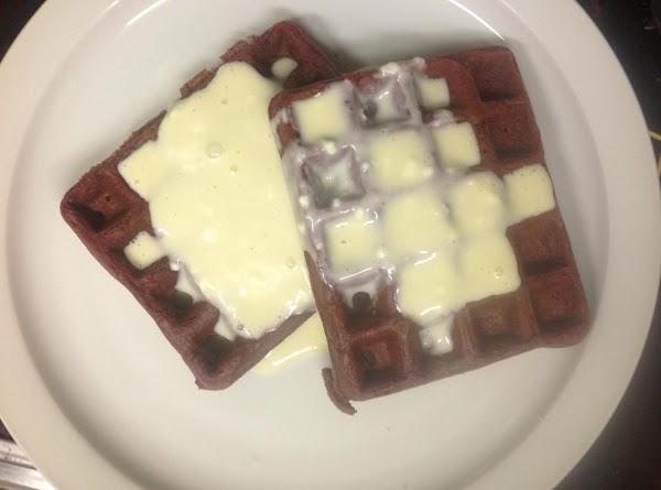 Red Velvet Waffles W/ Cream Cheese Sauce Recipe