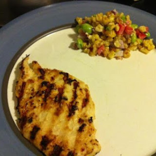 Grilled Miso Chicken with Roasted Corn and Edamame Salad