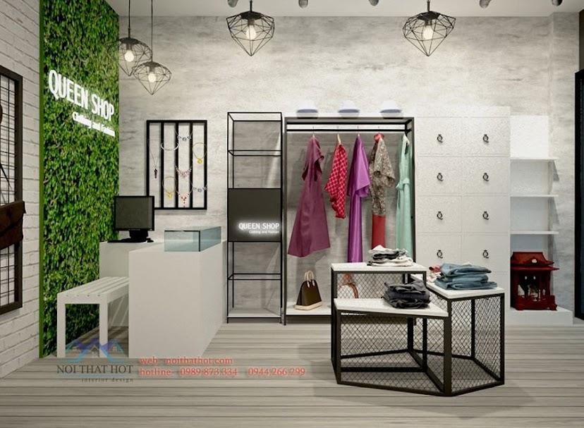 thiết kế shop thời trang hiện đại mới lạ