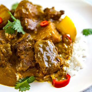 Coconut Beef Curry Stew.