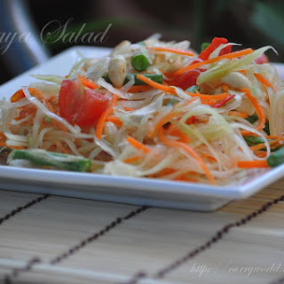 Green Papaya Salad (Som Tam)-Thai Delicacy.
