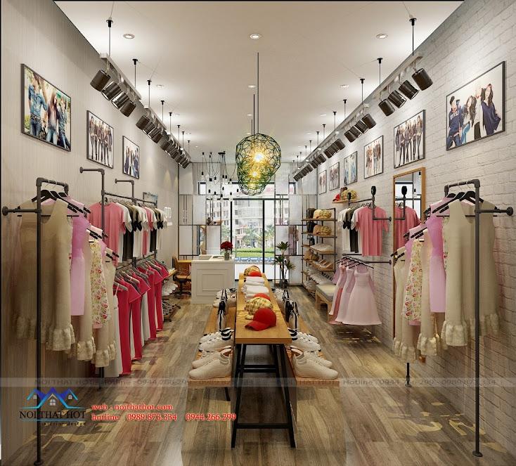 Thiết kế cửa hàng thời trang trẻ