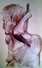 Photo: biro, black marker and brown ink
