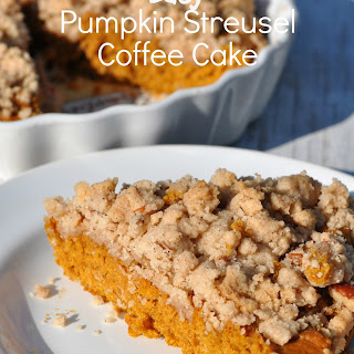 Easy Pumpkin Streusel Coffee Cake