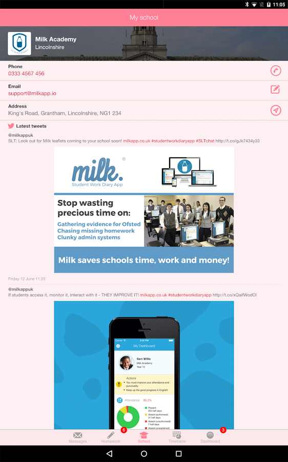 Milk for Students and Parents- screenshot