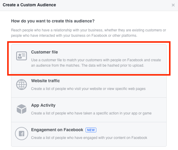 Upload an email list of your competitors followers in Facebook Ads.