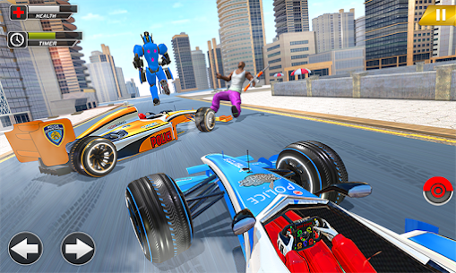 Police Chase Formula Car Transform Cop Robot Games 1.0.0 Mod + Data for Android 2